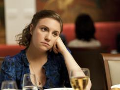 Lena Dunham in a scene from new HBO series 'Girls.'