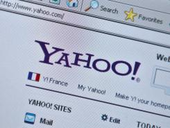 The Yahoo homepage.