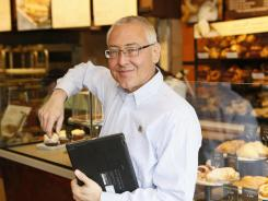 Panera Bread senior vice-president Blaine Hurst at a St. Louis Panera store.