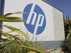 Outside Hewlett Packard headquarters in Palo Alto, Calif., between San Jose and San Francisco.