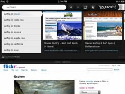 Yahoo! Axis lets you view visual search thumbnails of webpages without leaving the page you're on.