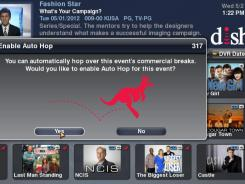 The AutoHop feature allows customers to skip over commercials.