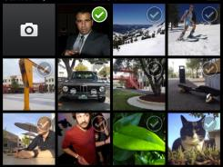 A screenshot of Facebook's new standalone iPhone app, Facebook Camera.