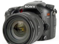 The Sony Alpha SLT-A77.