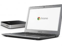 Book and box: The latest models of Chromebook, right, and Chromebox.