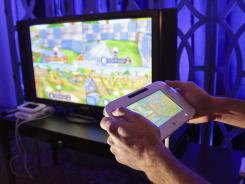 The new WiiU console on display at the Consumer Electronics Show in January.