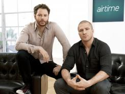 Sean Parker, left, and Shawn Fanning, who previously co-founded Napster.
