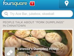 The Foursquare mobile app. )