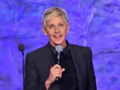 Comedian and TV personality Ellen DeGeneres speaks onstage at the 23rd Annual GLAAD Media Awards.