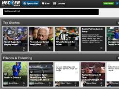 A screenshot showing the 'Sports Bar' section of Hecker Sports.
