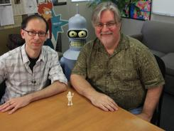 Co-workers: David X. Cohen, left, and Matt Groening are executive producers of Futurama and host a Futurama video podcast.