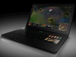 The Razer Blade laptop has a 17.3-inch display and programmable keys for playing PC games.