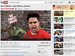 Ray William Johnson's channel is the most-viewed on YouTube.