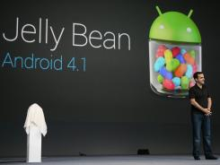 Hugo Barra, product management director of Android, introduces Google's new mobile operating system Android 4.1 'Jelly Bean'.