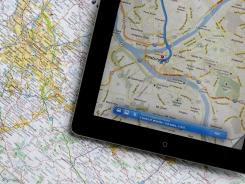 GPS and map applications haven't totally replaced paper maps.