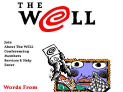 A screenshot of The Well from the late '90s.