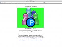 This image provided by The DNS Changer Working Group shows the webpage resulting from not having the DNS malware.