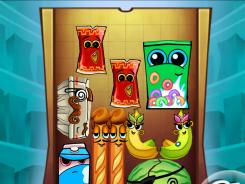 Food comes alive and displays big personalities in the puzzler 'Bag It! HD.'