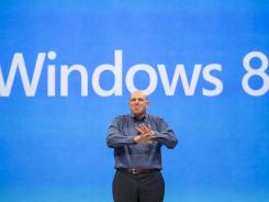 Microsoft CEO Steve Ballmer comments on the Windows 8 operating system before unveiling its new Surface, a tablet computer to compete with Apple's iPad.