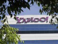 The Yahoo logo outside the company's offices in Santa Clara, Calif.