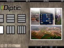 A screenshot of the Diptic app for iPad.