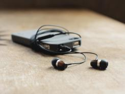 WoodTones Earbuds are made from reclaimed wood.