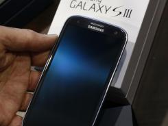 The Samsung Galaxy S III phone.