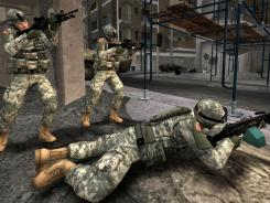 "Realistic: A scene from the video game ""America's Army."""