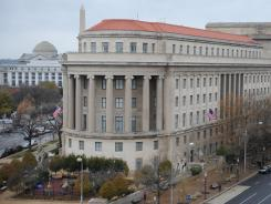 The Federal Trade Commission levied a $22.5 million fine against Google on Thursday. Here, the FTC office in Washington oveerlooks Pennsylvania Avenue.
