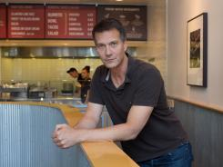 Planning: Mark Crumpacker, at a Denver Chipotle, wants to maintain the interaction with customers when an order is being filled.