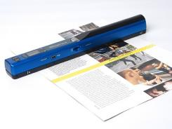 The IRISscan portable scanner can capture paper documents without the use of a computer.
