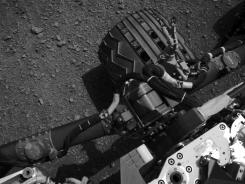 This image was taken by a camera onboard NASA's Mars rover Curiosity on Sunday.