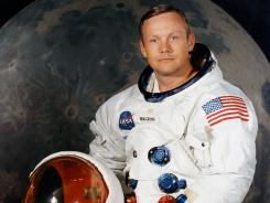 This portrait taken in July 1969 shows astronaut Neil Armstrong, commander of the Apollo 11 moon landing mission.