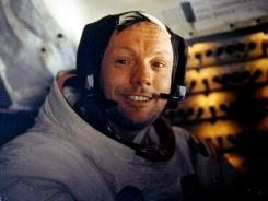 Astronaut Neil Armstrong is shown in this photo from July 20, 1969, the day he and his co-pilot landed on the moon.