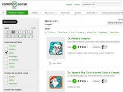 Common Sense Media lets you sort apps by those that parents recommend, those that are popular with kids, award winners and editors' picks.