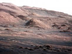 A chapter of the layered geological history of Mars is laid bare in this color image from NASA's Curiosity rover.