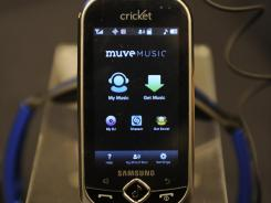 Muve Music will allow Cricket smartphone users to choose from millions of songs in their catalog.