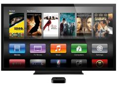 The main menu for Apple's current Apple TV streaming device.