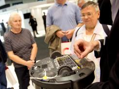 A robotic vacum cleaner is on display at IFA trade fair in Berlin.