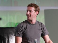 Facebook CEO Mark Zuckerberg at the Tech Crunch Disrupt event in San Francisco.