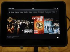 An Amazon Kindle Fire HD at its introduction in Santa Monica, Calif., last week.