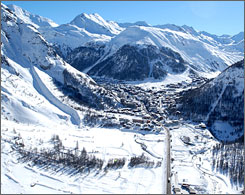 Val D'Isere, France serves up some of the best novice terrain in the Alps.