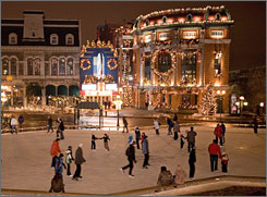 Quebec City: Forget Paris and her irritating lovers. Skate away your chagrin d'amour at Place d'Youville.