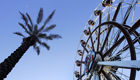 Ready for fun in the sun: The signature Ferris Wheel at The Wharf, an $800 million complex, waits for riders in Orange Beach, Ala.