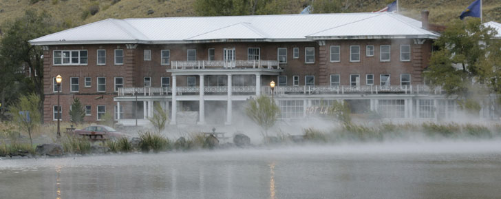 Oregon's hottest destination: Steam rises from the sulfurous lake at Hot Lake Springs in La Grande, Ore.