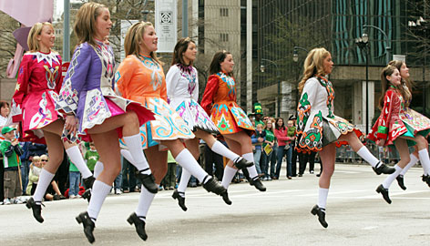 In Atlanta: More than 200 units are anticipated for this year's parade, which winds down Peach Street 1.1 miles to end at Underground Atlanta for a family festival. And because everyone is Irish on this day, everyone is invited to be in the parade.