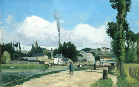 In Baltimore: Camille Pissarro exhibit includes Banks of the Oise.