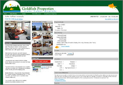 The Goldfish Properties' website shows one of the vacation rentals they offer with different views and a virtual tour button you can click on as well to see a full 360 degree view around the property.