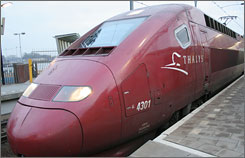 Amsterdam's sleek Thalys: Smart travelers know when to use individual countries' rail systems or a Eurail pass.