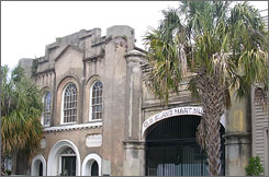 The Old Slave Mart in Charleston is believed to be the only building still in existence that was used for slave auctions in South Carolina. It is currently being renovated with exhibits that will show the history of the city's slave trade.
